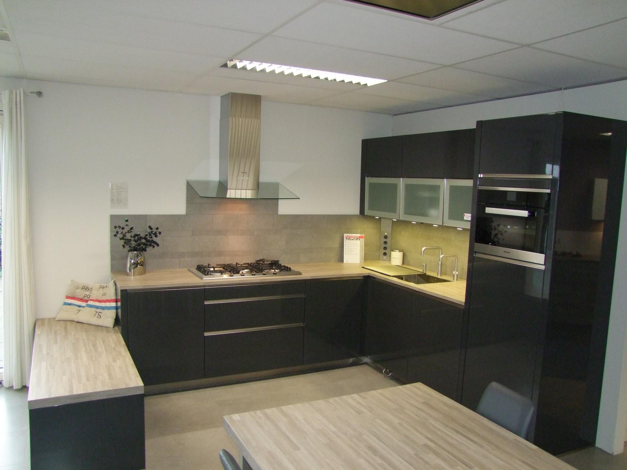 Hedendaagse wit kleur hoogglans lak keuken meubels moderne